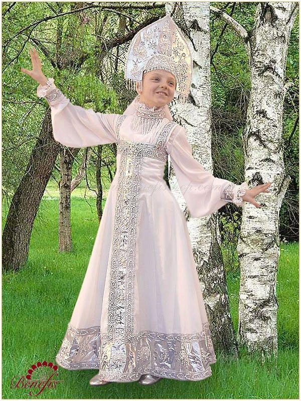 """Russian folk costume """"Berezka"""" for round dances >use design for costume drawing or costume design."""
