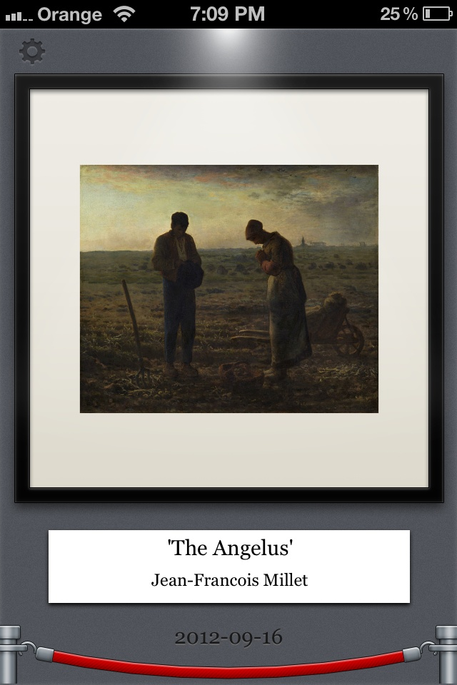 """Jean-Francois Millet's """"The Angelus"""" in free iOS and Android DailyArt app www.dailyartapp.com"""