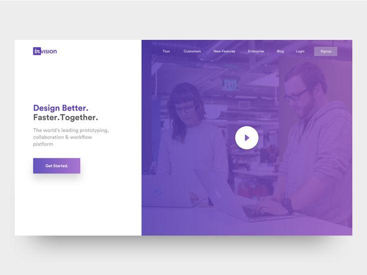 Invision theme redesign - landing page & mobile web by Divan Raj #Design Popular #Dribbble #shots