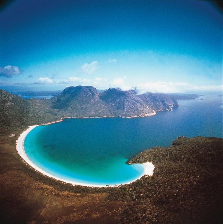 Wine Glass Bay in Freycinet National Park #tasmania