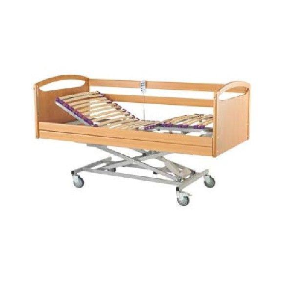 CAMA ARTICULADA CON CARRO ELEVADOR - REF: ADRIANA: Es una cama articulada con carro elevador eléctrico. Esta característica permite regular la altura de la cama.