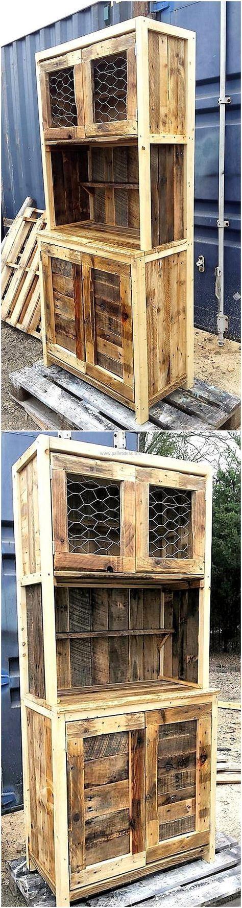 pallet rustic storage cabinet #refurbishedfurniture