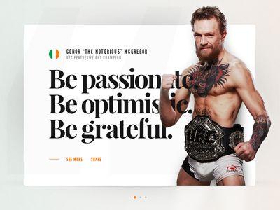 UI Experiment - Conor McGregor Quote