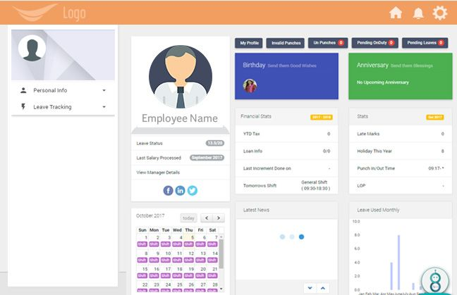 Employee Self Service portal enables employees to access and update