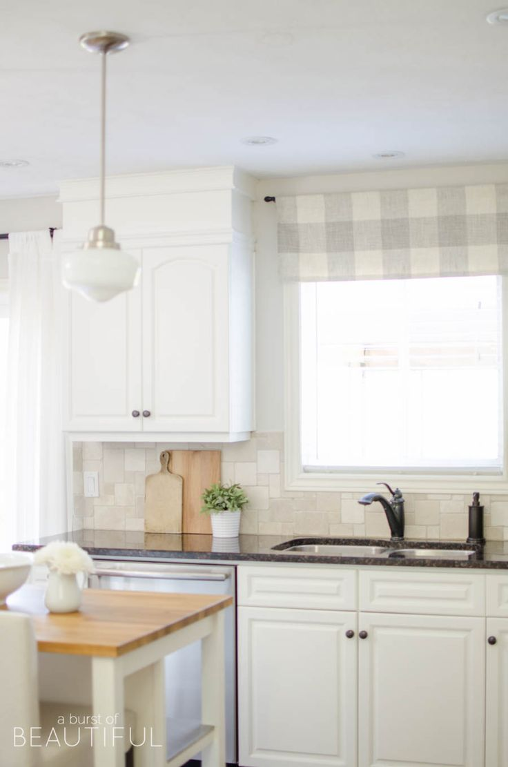 Farmhouse Kitchen Window Valance Tutorial Den