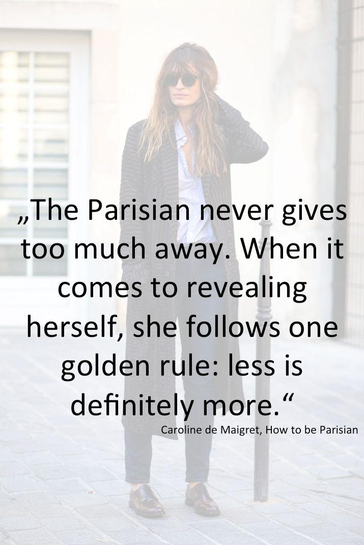 "Caroline de Maigret in her book ""How to be Parisian"""