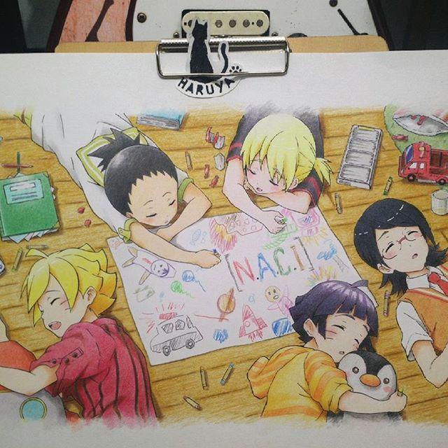 Boruto dan kawan-kawan... // Gambar lama :'3 bekas event.. duel sengit with @_aprileo @ibnu_arts09  Coloring tools: Faber-Castell Classic colour pencil 48 ©to original artist  #redraw #anime #naruto #boruto #himawari #sarada #shikadai #inojin #drawing #colorpencil #animedrawing #animeart #animeartist_support_ron #manga_arthelp #animegaleryart #animearttr #animeartassistant #animearthelp #animeart_feature #evil_feature #animeartcollective #animeartshelp