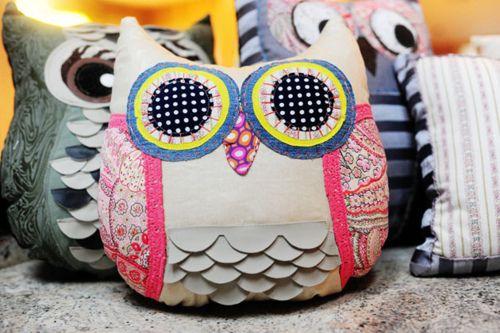 Cute owl pillows: Owl Pillows, Crafts Ideas, Cute Pillows, Crafty Things, Fabrics Owl, Cute Owl, Owl Cushions, Diy, Adorable Owl