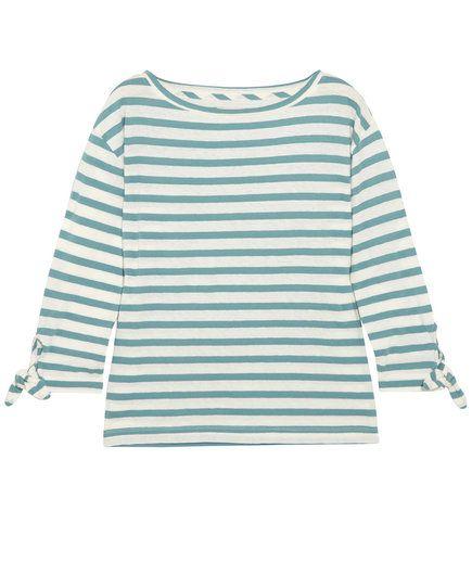 b51bc3abdff Madewell Marisol Striped Slub Cotton and Linen-Blend Top