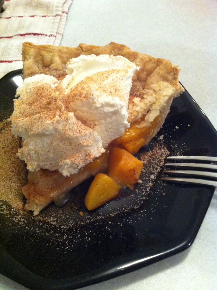 My peach pie! Num num