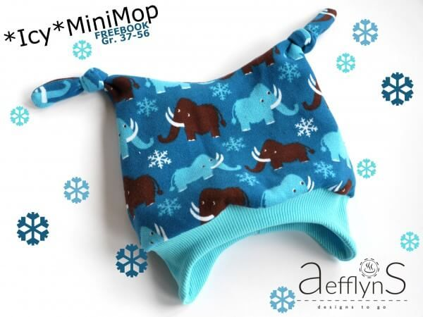 *Icy*MiniMop - die gefütterte Knotenmütze - FREEBOOK