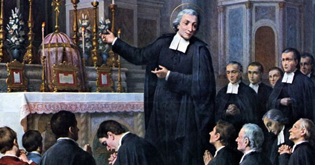 Saint Jean-Baptiste de La Salle (1651-1719) was a priest, educational reformer, and founder of Institute of the Brothers of the Christian Schools. He is a the patron saint of teachers. He is considered the founder of the first Catholic schools.