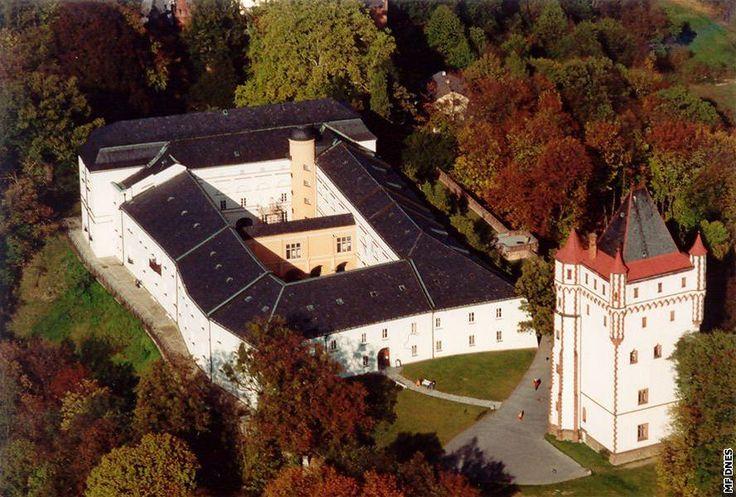 Hradec nad Moravici the white castle.