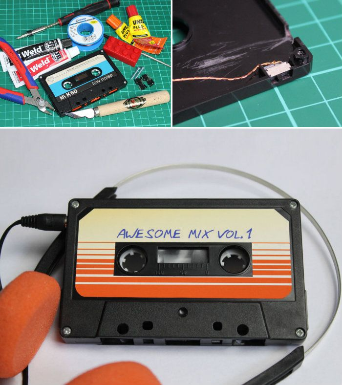 Cassette MP3 Player come visit my Geek craft board https://www.pinterest.com/tracyannhite/geek-crafts/