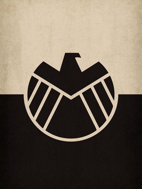 Minimalist S.H.I.E.L.D Poster   Marvel Art   Marvel ...