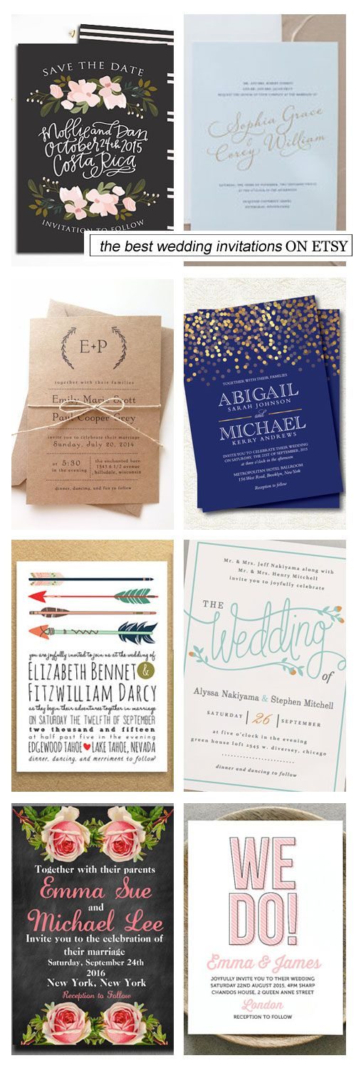 we would like to invite you celebrate our wedding in december0th%0A The Best Wedding Invitations on Etsy