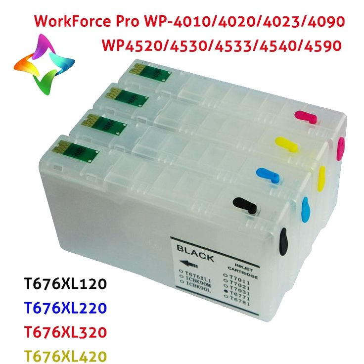 24.29$  Watch now - http://ali8e5.shopchina.info/go.php?t=32663058527 - for epson ink cartridges Refillable ink Cartridge for Epson WorkForceProWP-4520WP-4530WP-4540 T676XL refill epson ink cartridges 24.29$ #bestbuy