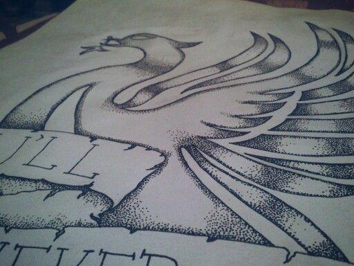 #Illustration #pointillism #drawing A3 Liver Bird.