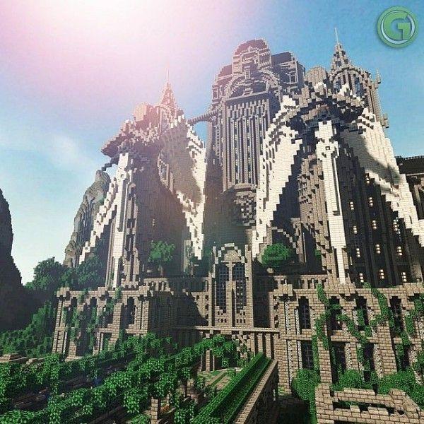 minecraft medieval fantasy castle build