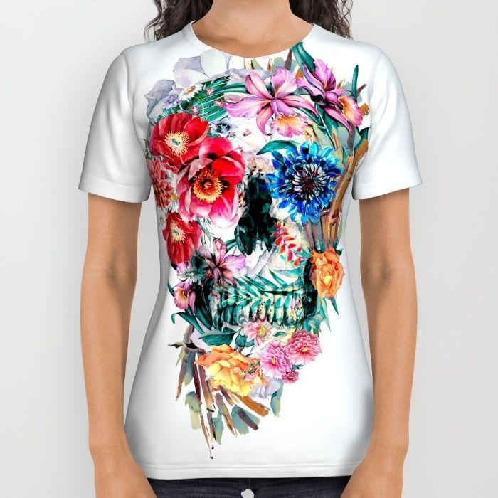 Momento Mori VI All Over Print Shirt #skull #tshirts #society6