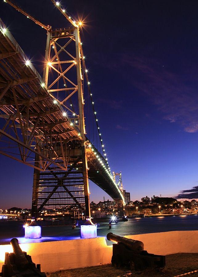 Florianopolis, SC, Brazil old bridge