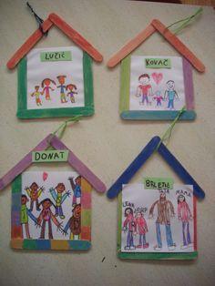 Lembrancinha: Minha família/ Minha casa