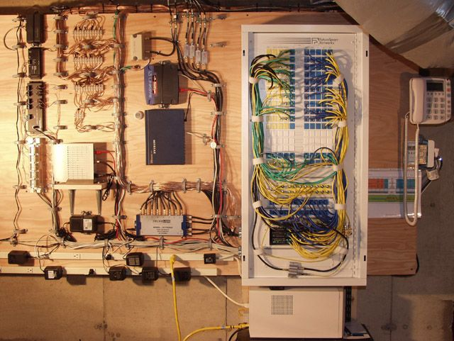 whole house structured wiring networking set ups cabinets panels picture home