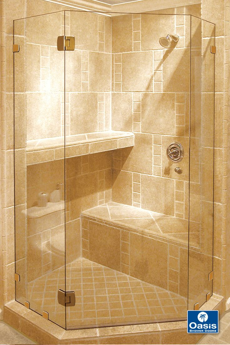 12 best custom frameless shower enclosures images on pinterest fameless neo angle shower features headerless design with glass to glass hinge and wall clip system eventelaan Image collections