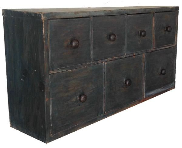 Early Century Seven Drawer Apothecary Chest From Pennsylvania, Dovetailed  Drawers, One Board Construction, Circa 1820 Measurements Are: 35 Wide X 9  Deep X ...