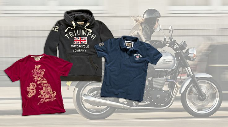 Introducing a new collection celebrating the iconic highways of Great Britain. Available now at shop.triumphmotorcycles.com or shop.triumph-motorcycles.ca (Canada).