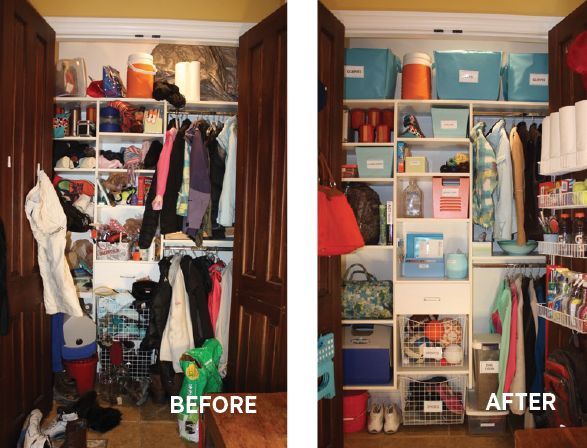 Local Home Organization Expert Monica Friel Used Colorful Storage Boxes To  Help Straighten This Closet.
