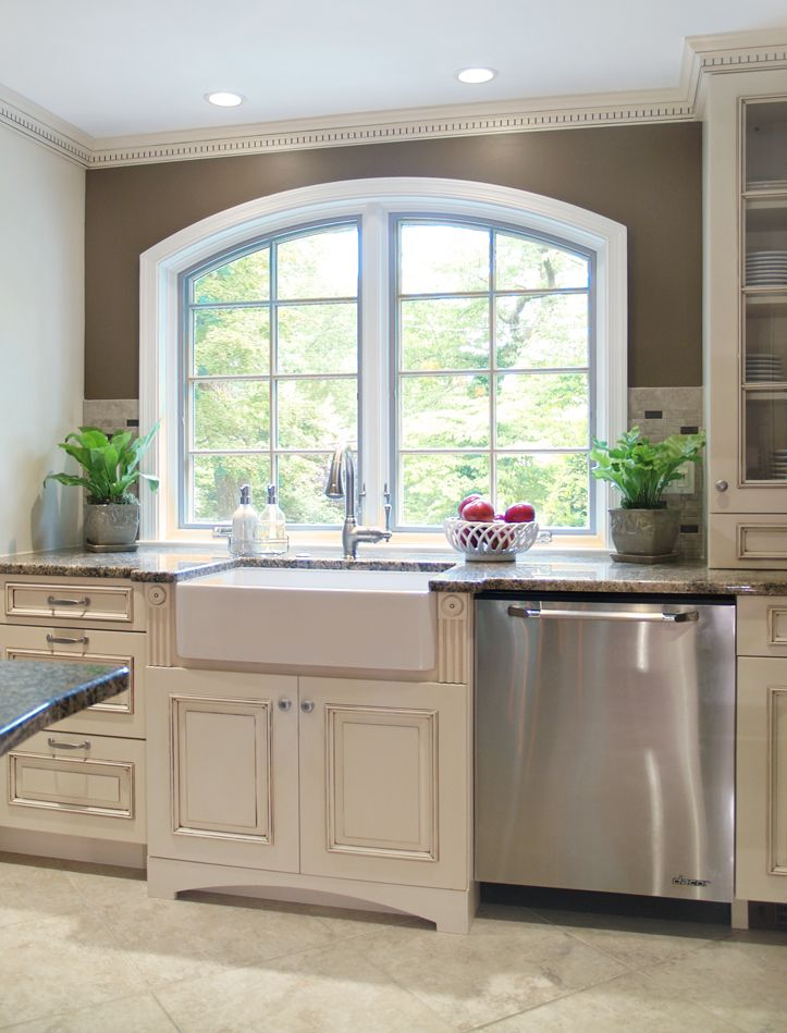 off white cabinets with white farmhouse sink not sure if this looks good may have t antique on kitchen cabinets not white id=53389