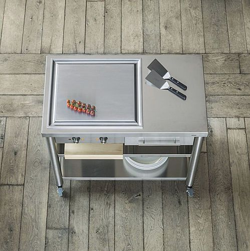 the teppan yaki grill cart from joko domus is made for perfect cooking results.