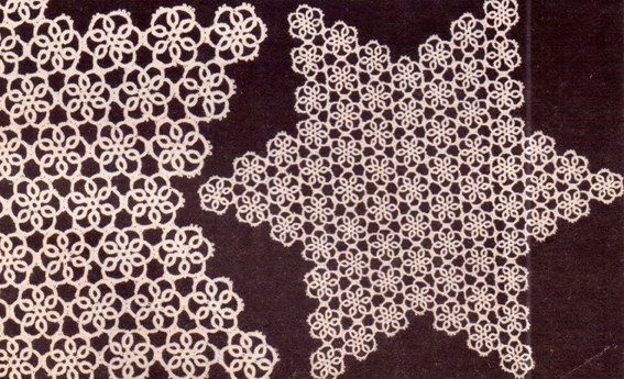 PDF Genuine Vintage Antique Pretty Lacy 'Star Doily' Tatting Pattern