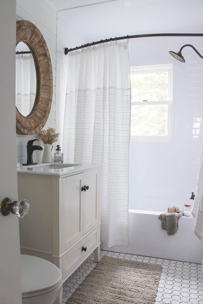 Bathroom Makeover Week 5 The Reveal Small Bathrooms Bathroom Modern Farmhouse Bathroom