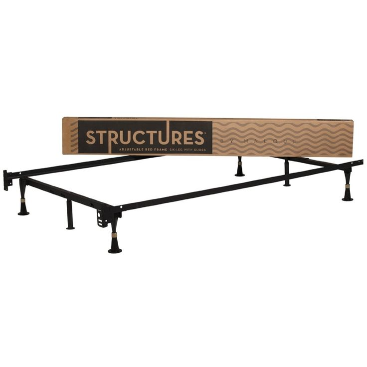 6-Leg Adjustable 2-in-1 Twin / Full Size Metal Bed Frame - Quality House