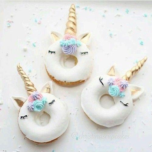 unicorn, sweet, and donuts image