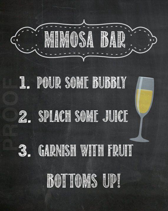 Mimosa Bar Instant Digital Download