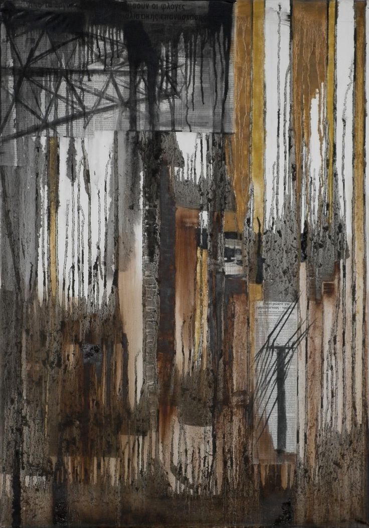 Electricity - Mixed Media & Oil on Canvas  www.vasilisangelopoulos.com