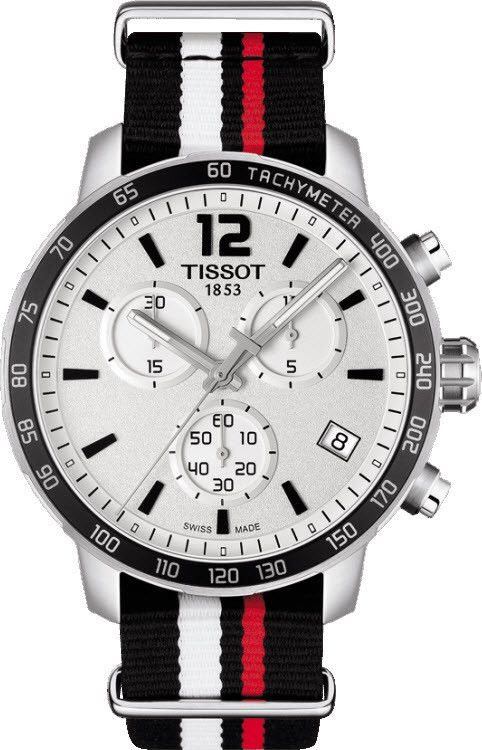 Tissot Watch Quickster Chronograph basel-15 bezel-fixed bracelet-strap-synthetic brand-tissot case-depth-10-72mm case-material-steel case-width-42mm chronograph-yes date-yes delivery-timescale-call-us dial-colour-silver gender-mens