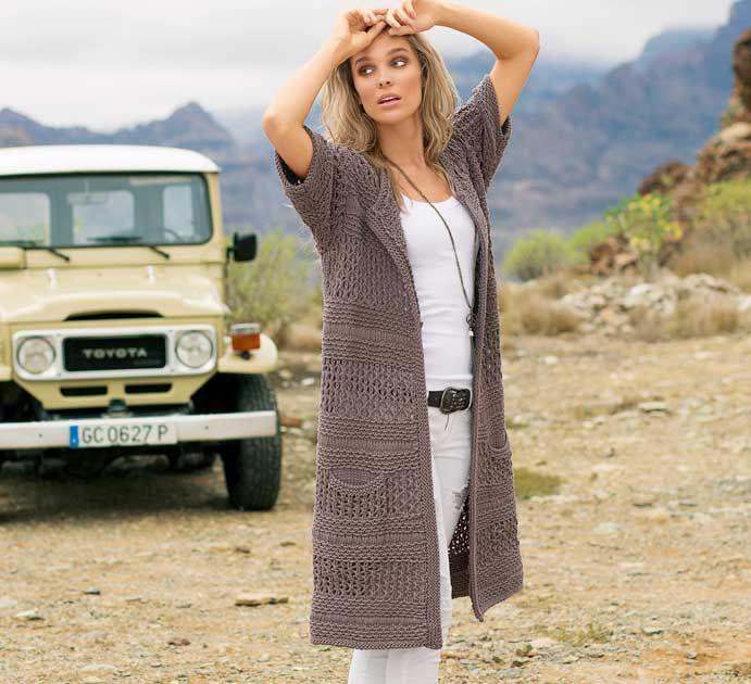 Летнее пальто - схема вязания спицами. Вяжем Пальто на Verena.ru