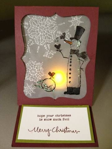 Snow Much Fun Easel type card by MelisLeach - Cards and Paper Crafts at Splitcoaststampers