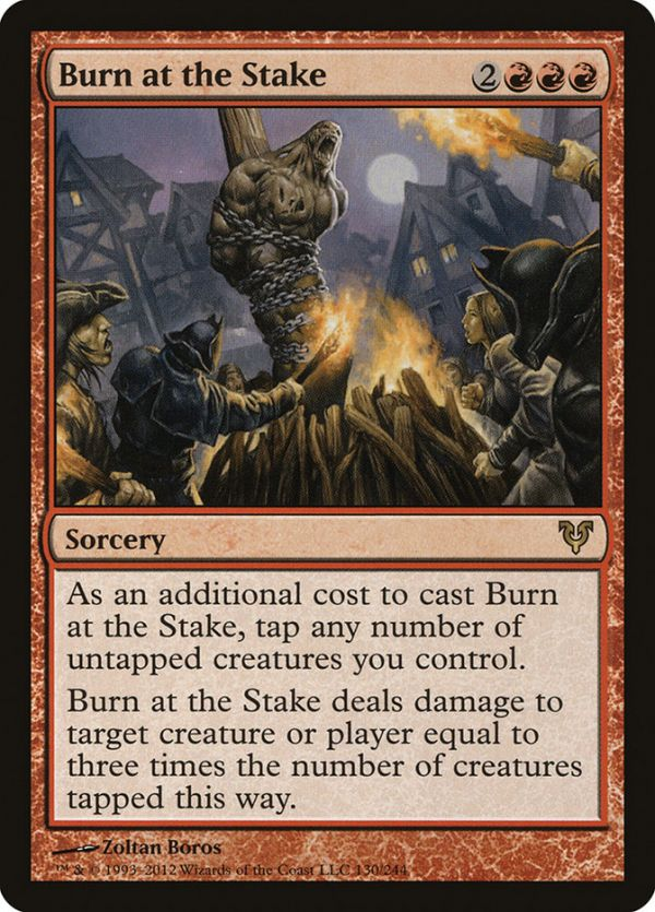 Burn At The Stake Magic The Gathering Cards Magic Card Game Magic The Gathering