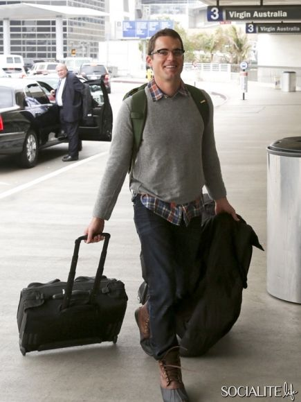 February 6 2014 Matt Bomer Seen At Lax International Airport Today In Los Angeles California