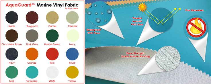 We have been working hard to bring you a top of the line quality textile like our #AquaGuard #MarineVinyl #Fabric that is weather-resistant and chic.  http://bigzfabric.com/index.php/fabrics/faux-fake-leather-vinyl-fabric/aquaguarda-marine-vinyl-auto-boat-upholstery-fabric.html