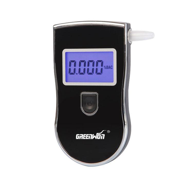2016 Nueva patente Protable Alcoholímetro Policía Analizador Detector del Alcohol del LCD Digital Probador de la Respiración AT-818 Envío Gratis