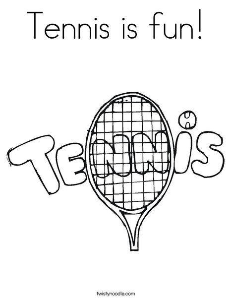 tennis is fun coloring page twisty noodle