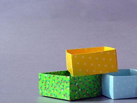 Bunte Origami-Schachteln