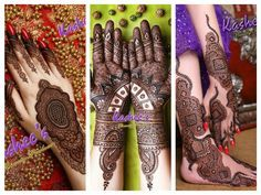 Latest Bridal Mehndi Designs by Kashee's 2016-17
