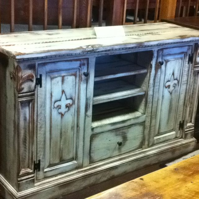 TV Stand With The Fleur De Lis At All Wood Furniture